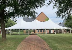 pole tents shown can be rented without sides
